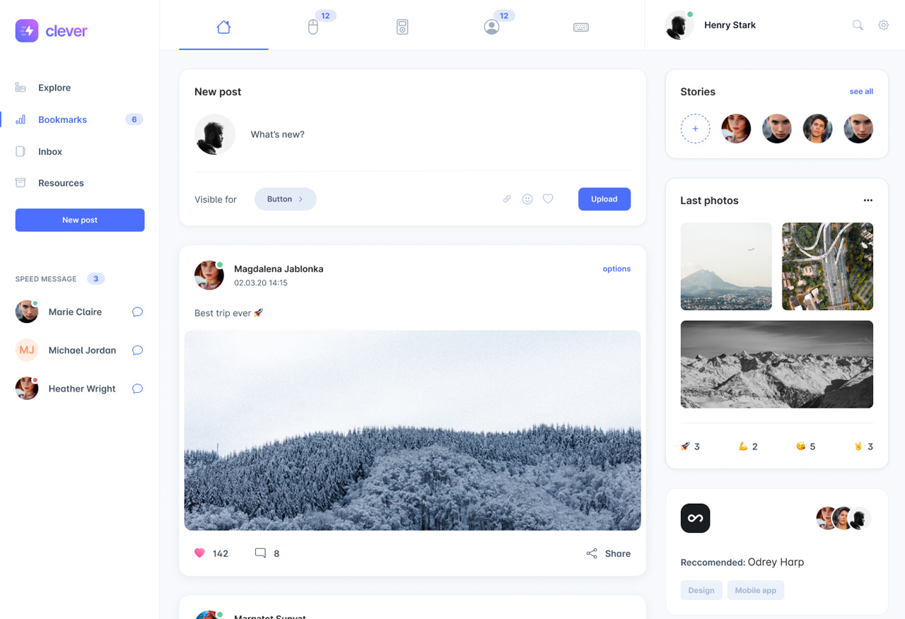 UI template example